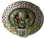Nidhug Celtic Dragon Belt Buckle + display stand. Code BK4